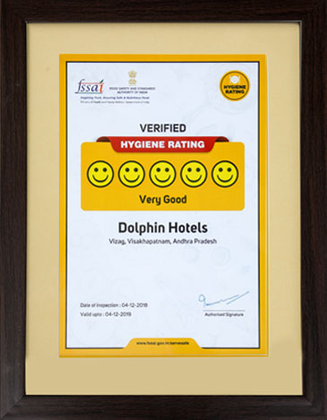 Dolphin Hotel Vizag receives FSSAI award for high Hygiene Rating